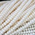 Красивые природные пресноводного жемчуга abacus бусины 7-8 мм fit diy женщин прекрасный подарок ювелирных изделий 15 inch B1345