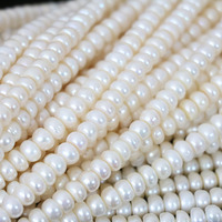 Beautiful Natural White Freshwater Pearls Abacus Beads Fit Diy Women Lovely Gift Jewelry Making 15inch B1345
