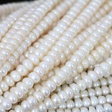 Beautiful natural white freshwater pearls abacus beads 7-8mm fit diy women lovely gift jewelry making 15inch B1345