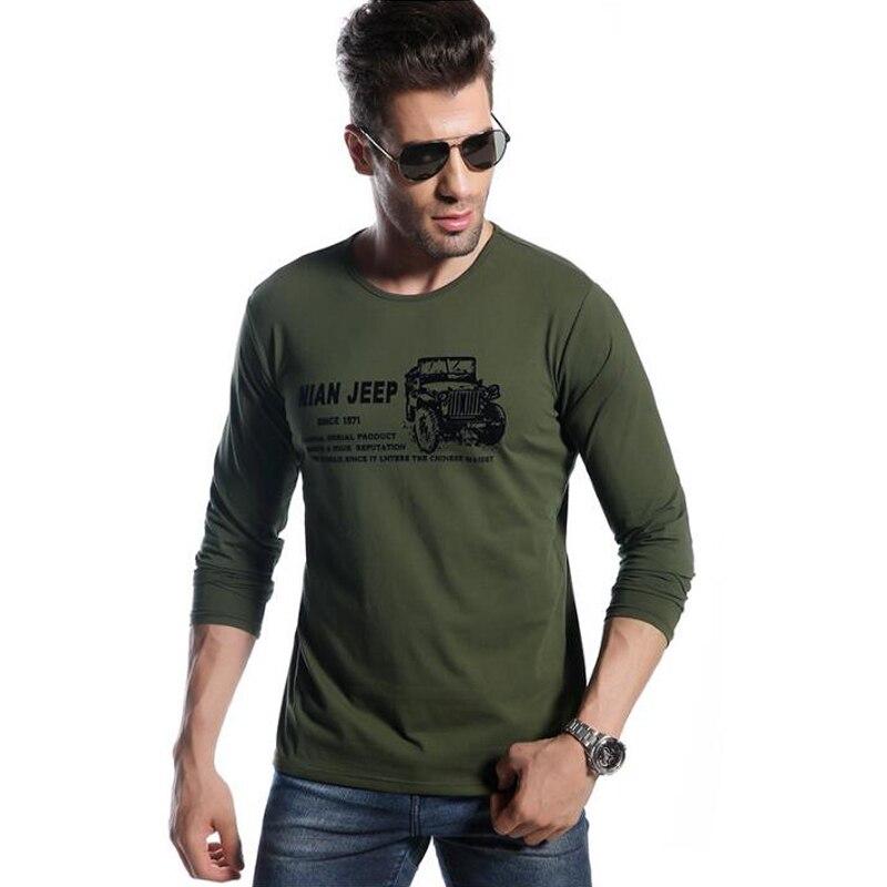2018 고품질 티셔츠 브랜드 남자 봄 가을 목화 긴팔 티셔츠 camisa masculina 티셔츠 남자 브랜드 의류 맨