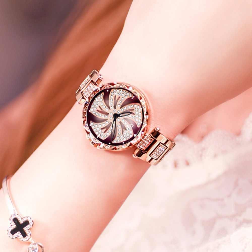 Dom relógios de quartzo feminino moda à moda diamante feminino relógio de pulso de luxo marca à prova dgold água feminino ouro G-1258GK-9MF