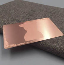 wholesale high quality customized rose gold plated stainless steel metal mirror business card цены онлайн