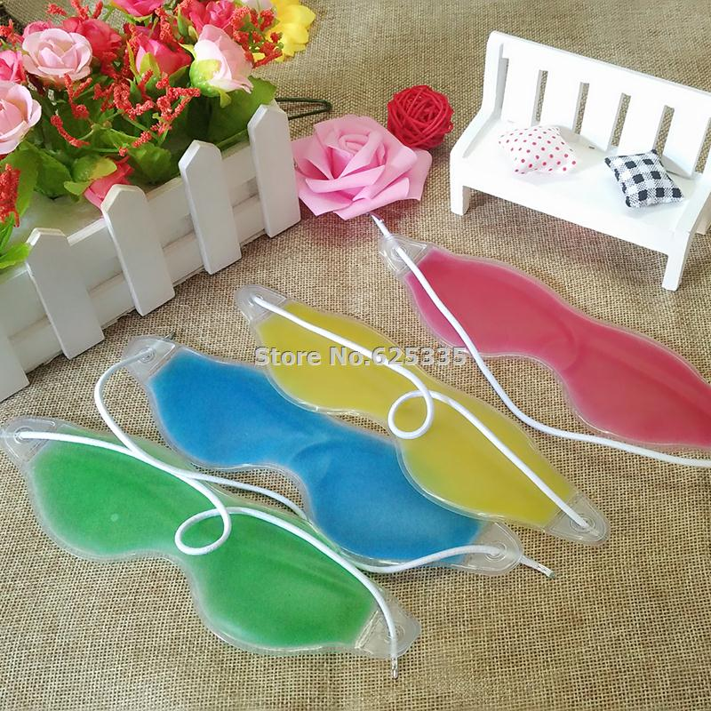 Summer Style Dark Circles Removal Eye Fatigue Relif Eye Gel Ice Goggles Sleep Masks Random Color(China)