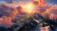 16x32inch Thomas Kinkade The Cross Art Painting Prints On Canvas For Living Room Wall Decor Wall