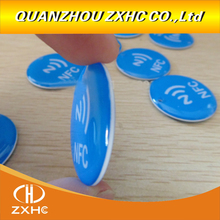 3pcs/lot Waterproof Blue Crystal Epoxy NFC Tag Ntag213 for All NFC Phones
