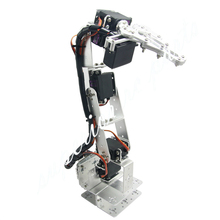 Arduino Robot 6 DOF Aluminium Clamp Claw Mount Kit Mechanical Robotic Arm Servos Metal Servo Horn