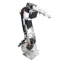 Arduino Robot 6 DOF Aluminium Clamp Claw Mount Kit Mechanical Robotic Arm & Servos & Metal Servo Horn Silver 20% OFF