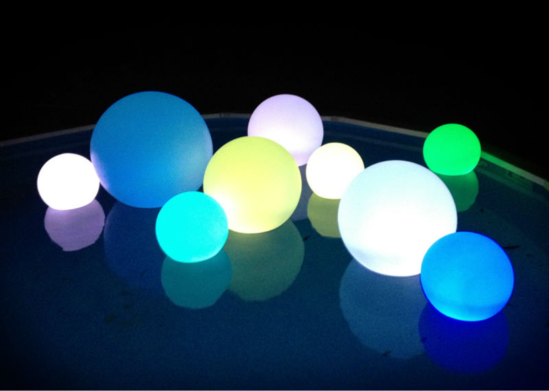20cm Multi Color Changing Night Light Led Ball garden ball lamp creative 3d visual color changing led touching night light