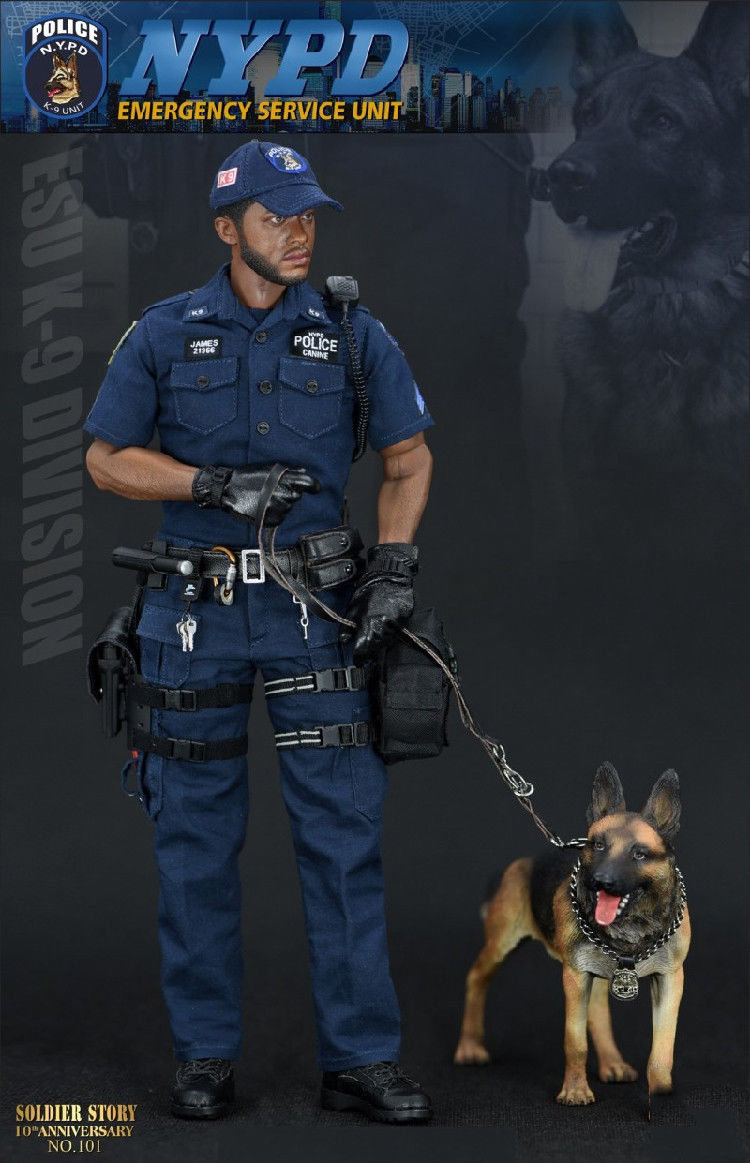 """SoldierStory SS101 NYPD ESU K-9 DIVISION 12/"""" Figure 1//6 Scale Boots Lace-up Toy"""