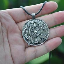 2016 new Thunder shield of Perun Slavic Axes gothic retro Pagan Pendant men Amulet Necklace axe Norse handmade Jewelry