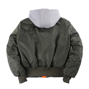Image 2 - 2019 Winter oversized MA 1 with hooded streetwear hip hop army military coats clothes bomber flight air force pilot jacket men