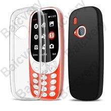 Супертонкий Мягкий Силиконовый ТПУ чехол для Nokia 3310 2017 TA-1030 N3310, новый чехол-накладка 2,4 дюйма, защита экрана