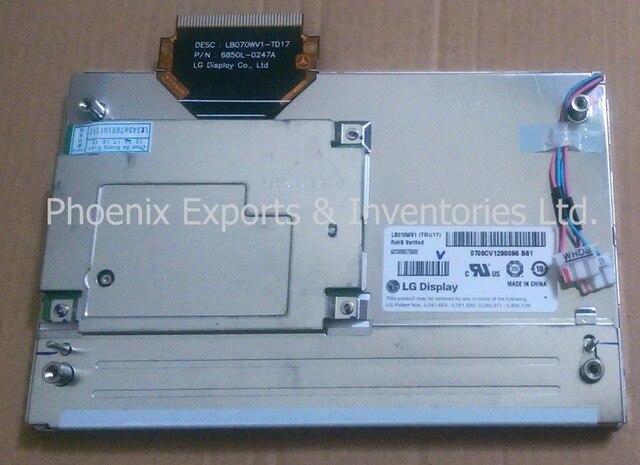 LB070WV1 (TD) (17) 7 インチ液晶ディスプレイパネルメルセデス LB070WV1 TD17 LB070WV1 TD 17