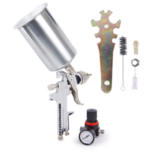 цена на CarBole  2.5mm HVLP Gravity Feed SPRAY GUN Kit w/Regulator Auto Paint Primer Metal Flake
