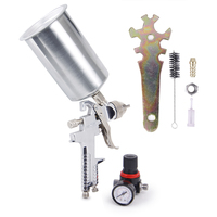 CarBole 2.5mm HVLP Gravity Feed SPRAY GUN Kit w/Regulator Auto Paint Primer Metal Flake