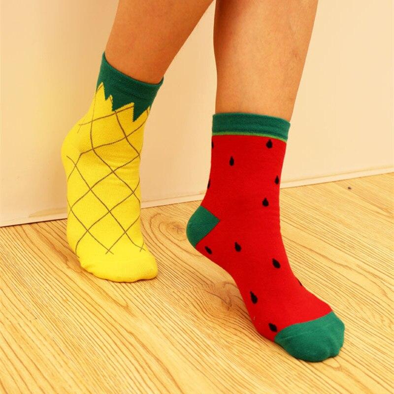 1pairs Ms.   Socks   Fruit Series Chaussette Cartoon Calcateines Fun Happy Sox Lemon Pineapple Warm Winter Christmas   Socks