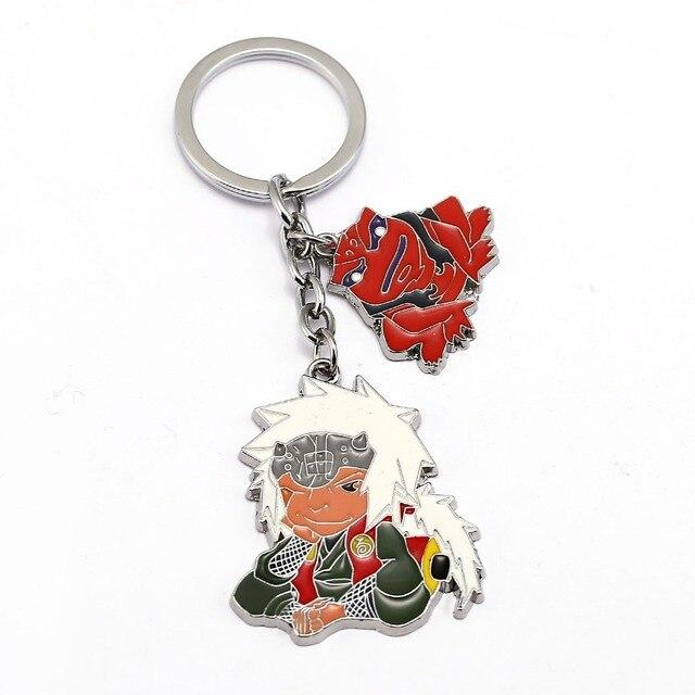 Anime Figures Key Chain NARUTO Keychain Gaara iraiya Kakashi Key Ring Holder Chaveiro Bag Charm Pendant Gift Jewelry