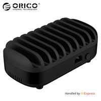 ORICO 10 Порты USB Зарядное устройство Док станция с держателем 120 Вт 5V2. 4A * 10 зарядка через USB для смартфонов Планшеты PC Применить для дома обществ