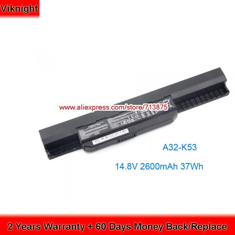 Genuine 14.8V 2600mAh A32-K53 Battery for Asus X53SD a32 k53 A43 A54 A83 K43 X43 K53 X53E P54 x54 x84 A42-K53 светодиодная лампа 10 cree xlamp xml2 xm l2 t6 u2 10w led 16