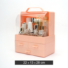Cosmetic storage box dustproof shelf desktop skin care products lipstick mask cosmetic case