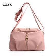 Women Female Handbag Brand Satchel Zipper Nylon Luxury Handbags Evening Clutch Crossbody Bags For Designer Red Retro EZ89