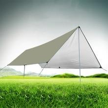 420D ткань Оксфорд Сверхлегкий брезент Открытый Кемпинг выживания солнцезащитный тент с серебряным покрытием беседка Водонепроницаемый пляж палатка