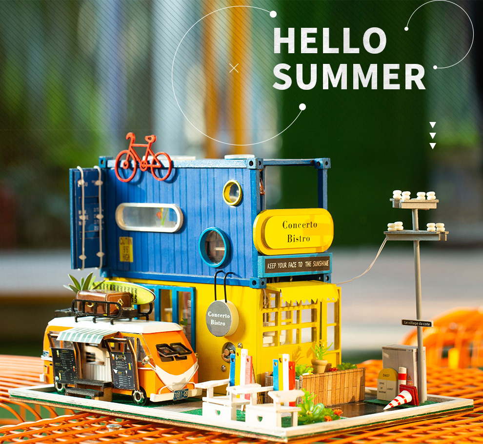 Cutebee Hello Summer DIY Dollhouse