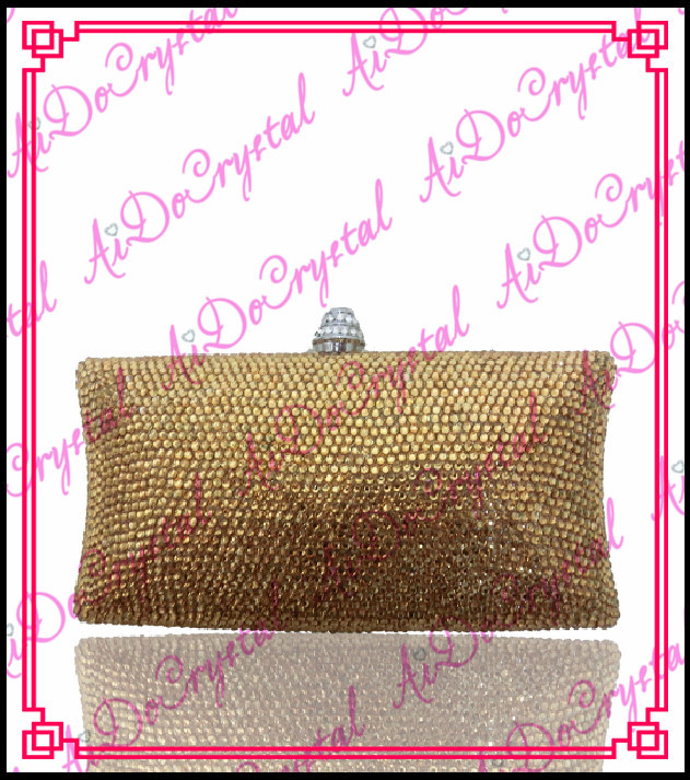 Aidocrystal Top branded yellow crystals clutch purses for elegant lady