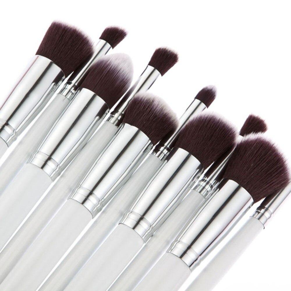10 шт., кисти для макияжа, основы, Румяна для лица, пудра, подводка для глаз, губ, нейлоновые инструменты для волос и макияжа, pincel maquiagem