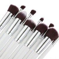 10 stücke Make-Up Pinsel Foundation Rouge Gesicht Pulver Eyeliner Auge Lippen Nylon Haar Make-Up Werkzeuge pincel maquiagem