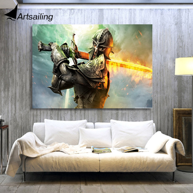 1 Panel Free Shipping Dragon Age Inquisition Print Painting On Canvas Wall Art Picture Home