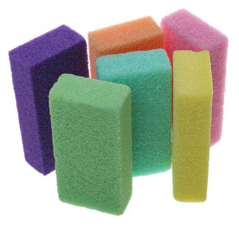 T-Clear colori Ellittica di Legno Strumento di Pedicure Piedi Cura Callo File di Pelle Morta Rimozione A Due Lati Del Piede