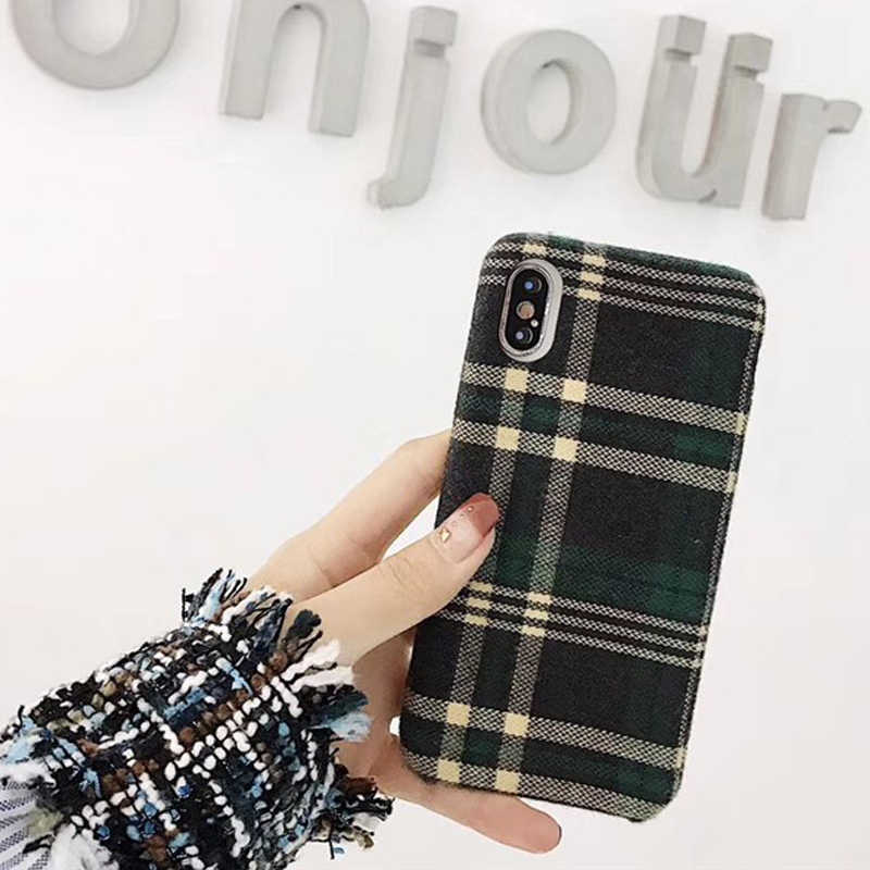 95b67e518781 ... Vintage Plaid Phone Case For iPhone 6 Grid Cloth Cases for iPhone 6 6s  7 8 ...