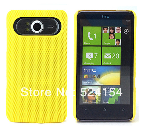 NEW FASHION PLASTIC NET HARD DREAM MESH HOLES SKIN CASE PROTECTOR GUARD COVER FOR HTC HD7  FREE SHIPPING