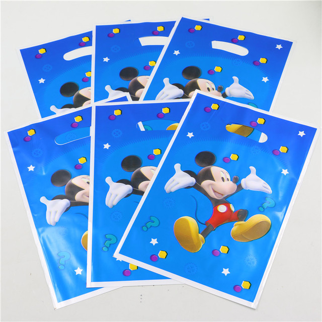 10pcs Lot Mickey Mouse Theme Party Decoration Return Gift Loot Bag Candy Cartoon Pattern Birthday Supplies Children