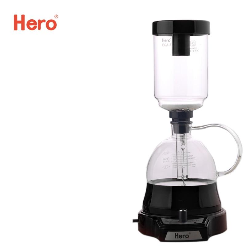 Hero 2016 Electric Coffee Syphon Pot Hot Sale Electrical Siphon Coffee Tea Maker 3 Cups ECA-3