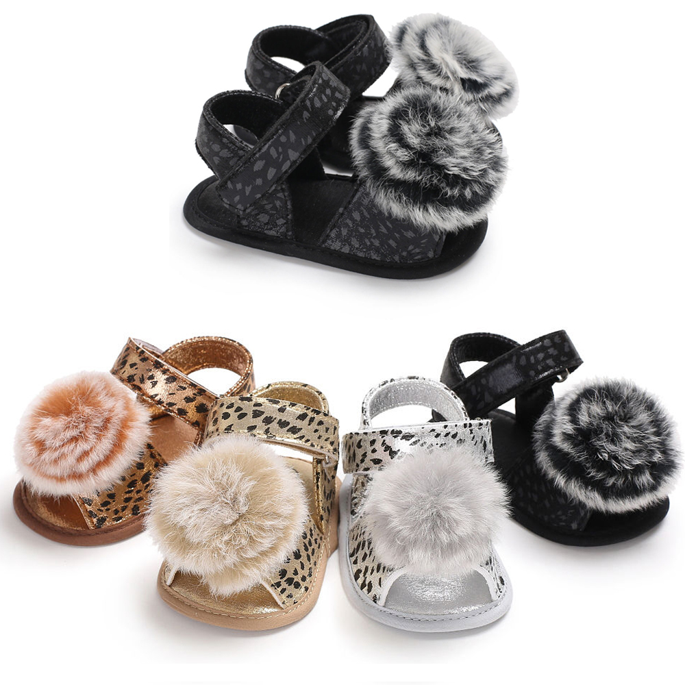 2020 Lovely Ball Baby First Walker Shoes Leopard PU Bebe Soft Sole Non-slip Toddler Girl Boy Shoes 3 Color For 0-18 Months