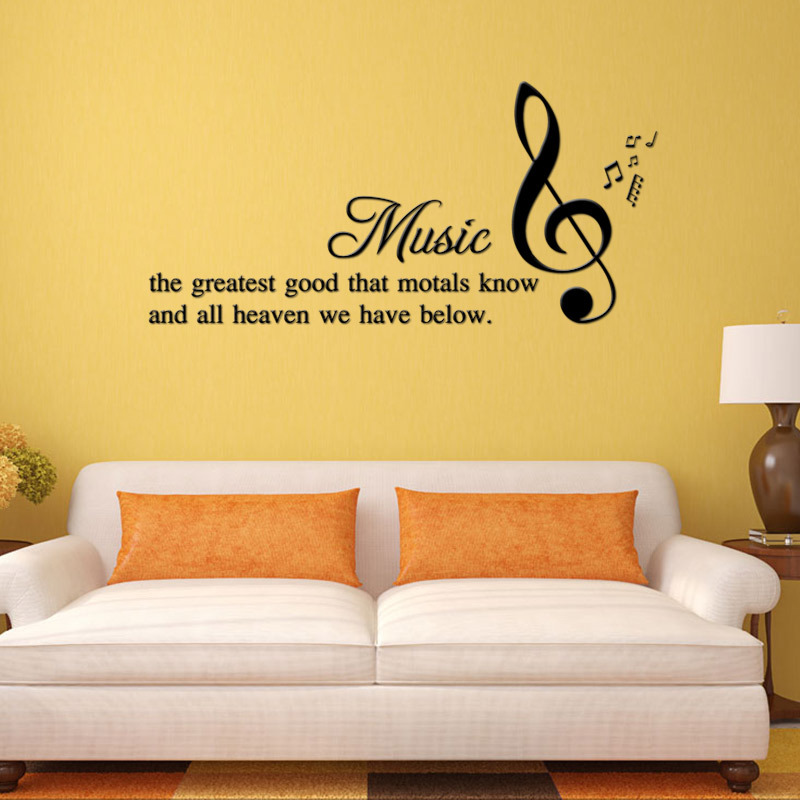 Aliexpress.com : Buy DIY Music Quotes Wall Stickers Kids Living ...