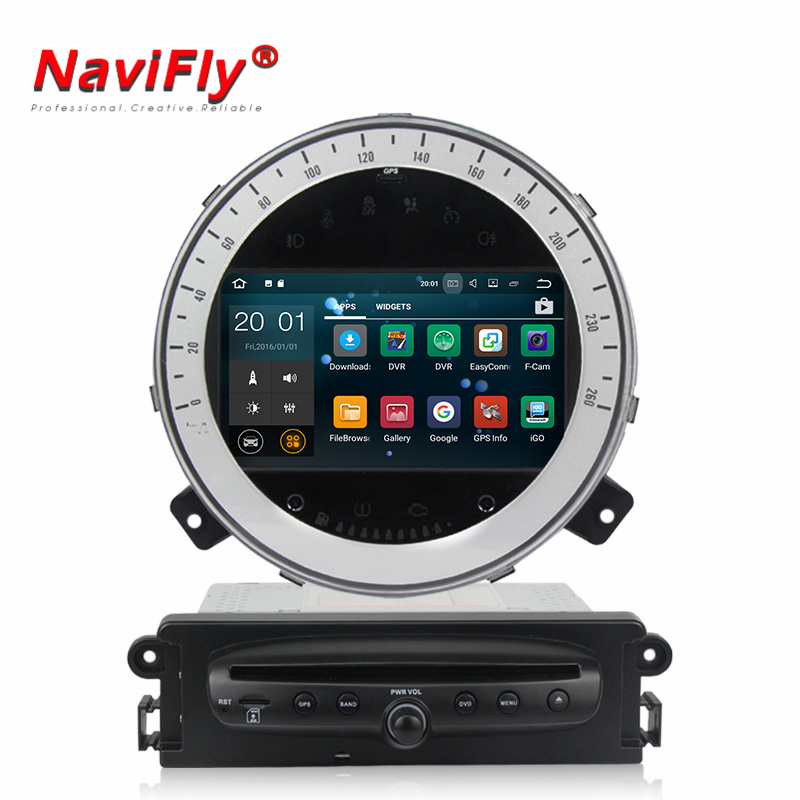 Android 7.1 car dvd multimedia player for BMW MINI cooper 2006 2013 Original without screen auto gps navigation radio head unit