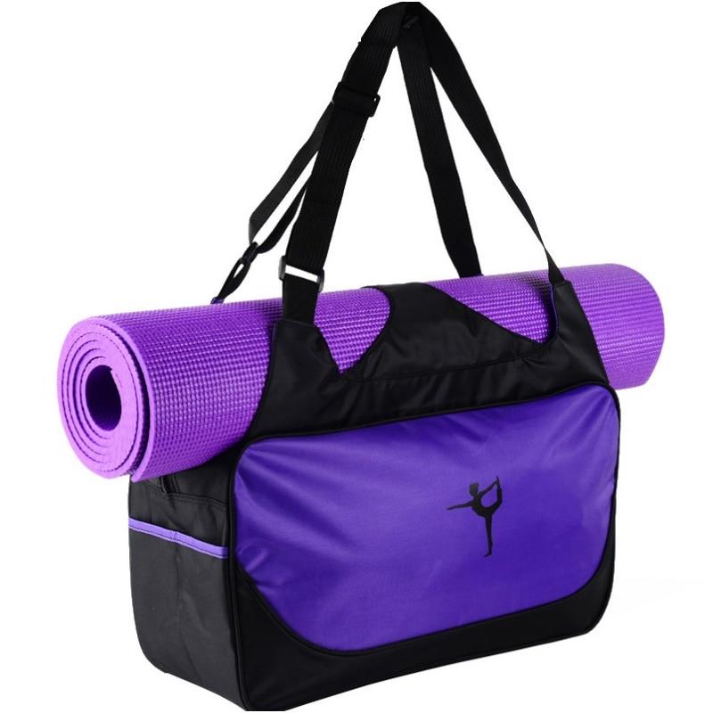 Sports Fitness Gym Yoga Bag Waterproof Pilates Mat Case Bag Carriers (no mat)