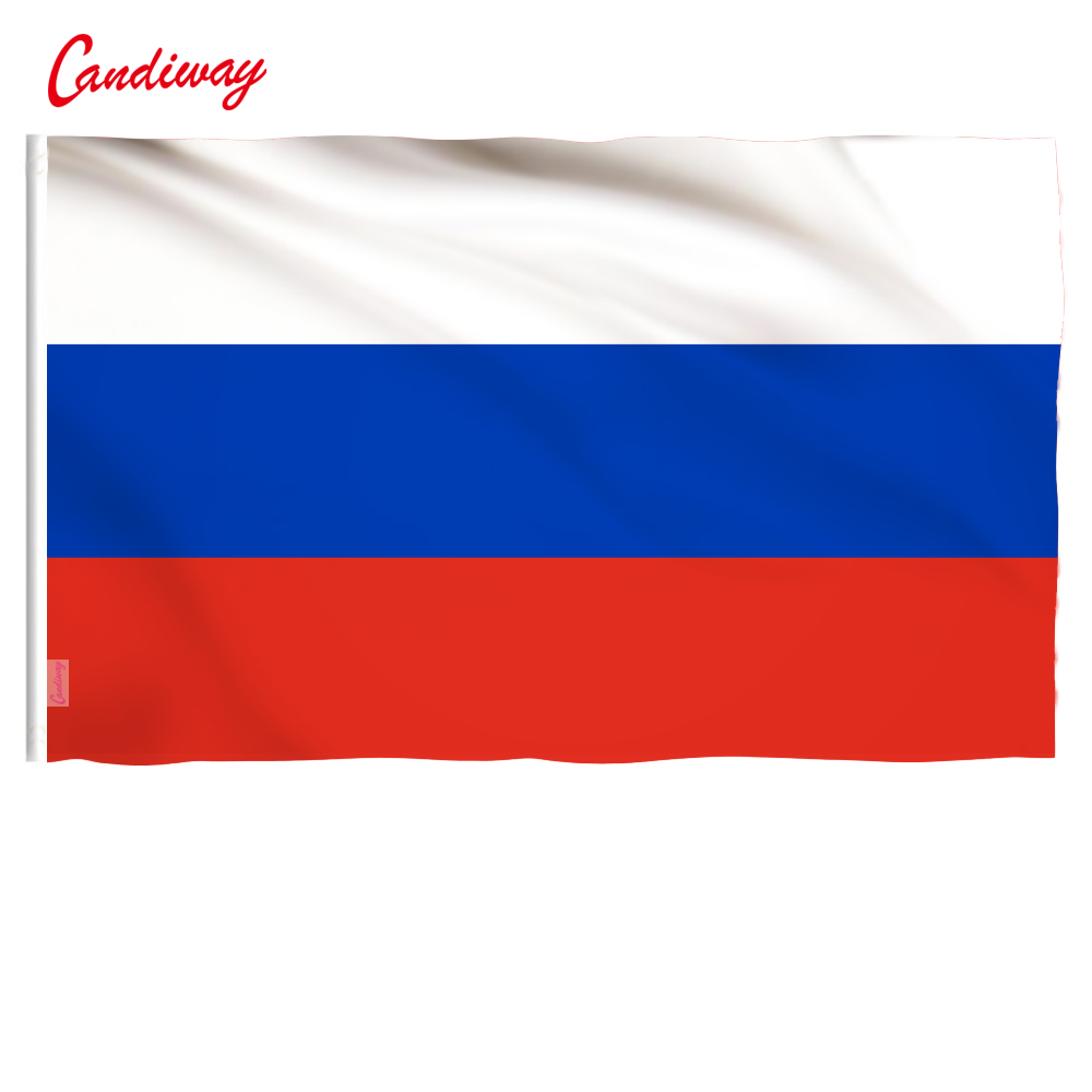 90 X 60cm  Outdoor  Federal Republic Flags Country Banner High Quality Polyester Russian Flag Home Decor