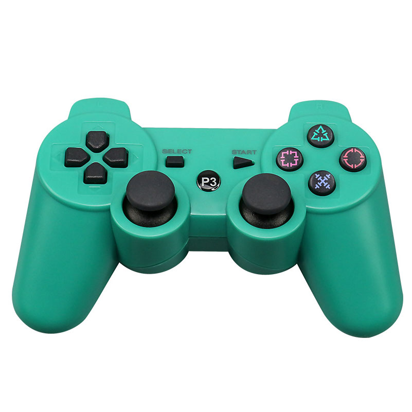 For Sony Playstation3 szKosTon 11 Colors 2.4GHz Wireless Bluetooth Game Controller For PS3 Controller Joystick Gamepad Top Sale green