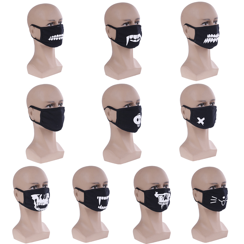 1PC Cute Anime Mouth Muffle Face Mask Emotiction Masque Cartoon Kpop Masks Anti Dust Mask Kpop Cotton Mouth Mask 10 Styles