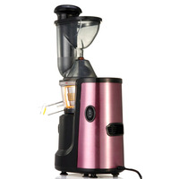 150W Juice Extractor Electric Slow Whole Fruit Vegetable Juicer Low Noise Luxury Purple Stainless Steel Finish Kitchen Appliance