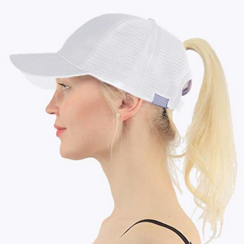 2019 Ponytail   Baseball     Cap   Women Adjust Sport Casual Messy Bun Snapback Mesh Hat Casual Adjustable Sport   Caps   Drop Shipping