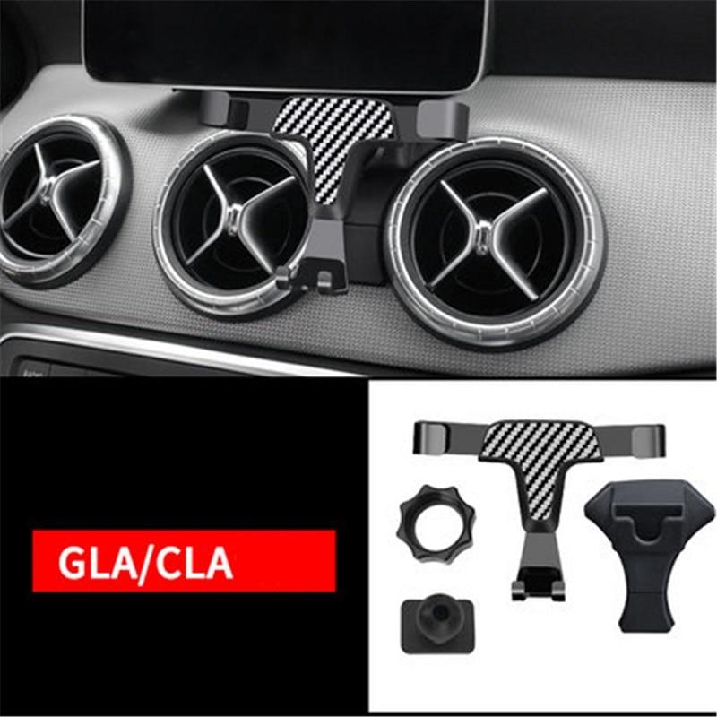 Universal Car Phone Holder Air Vent Power Socket Mount Rotating Stand For Mercedes Benz GLA GLC CLA C-Class A-Class Phone Holder
