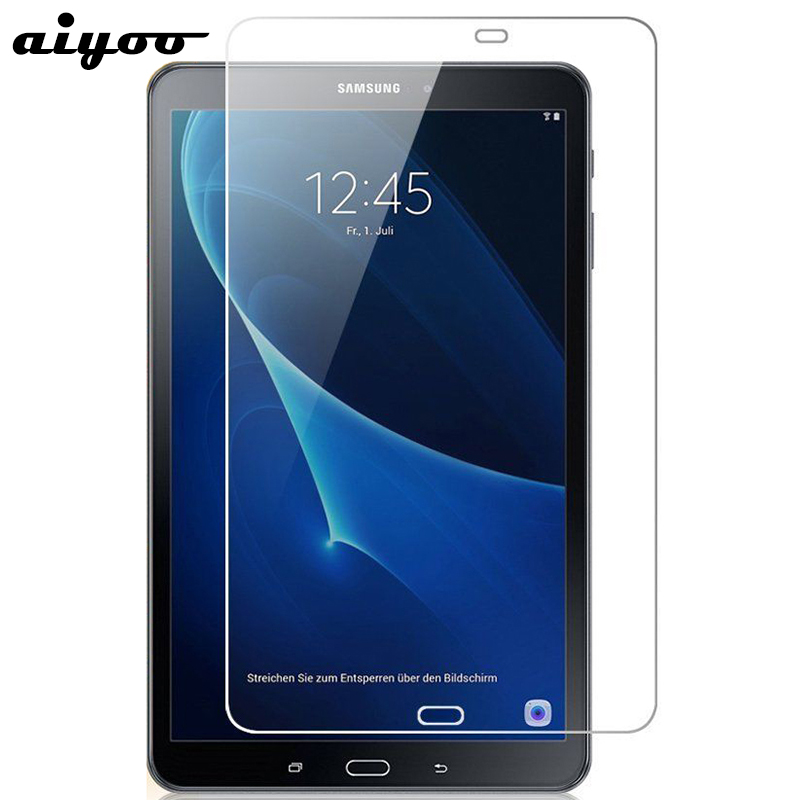 Aiyoo Tempered Glass for Samsung Galaxy Tab A 10.1 2016 T580 T585 Screen Protector Film for Samsung Tab A6 10.1 SM-T580 SM-T585 2 color for samsung galaxy tab a 10 1 t580 t585 sm t580 sm t585 touch screen digitizer sensor lcd display monitor assembly