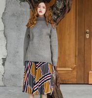 Autumn And Winter Japanese Mori Girl Turtleneck Collar Pullover Sweater Korean Women Student All Match Loose