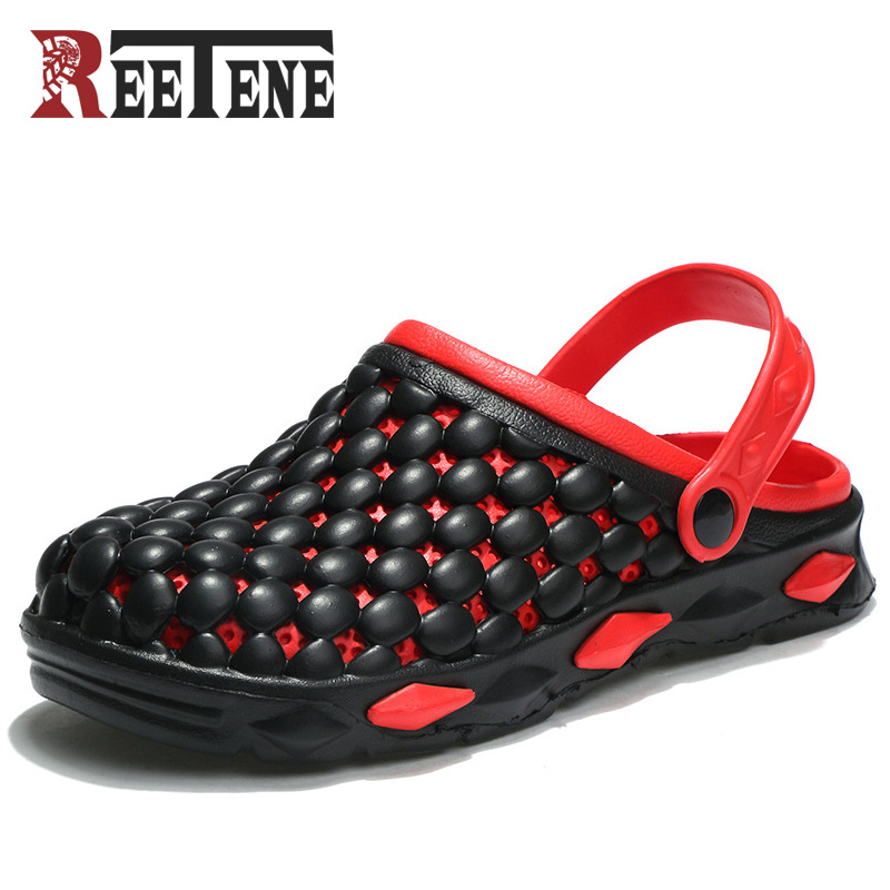REETENE Hot Sale Summer Shoes For Men Beach Sandals For Men High Quality Non-Slip Garden Sandals Outdoor Slippers