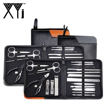 XYj Professional Manicure Set 19 in 1 Nail Care Pedicure Kit Acne Extractor Nail Art Tool Set Nail Clipper Tweezer Beauty Tools 1